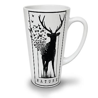 Deer Butterfly Nature NEW White Tea Coffee Ceramic Latte Mug 12 oz | Wellcoda