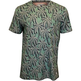 Ted Baker Large Palms Print T-Shirt, Light Blue