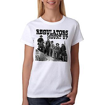 Young Guns Mount Up Women's White T-shirt
