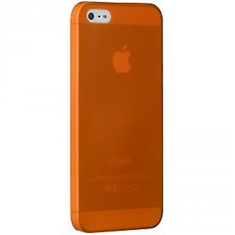 Ozaki OC533OG O! Coat jelly slim 0.3 mm cover case iPhone SE 5 / 5S Orange