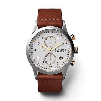 Triwa Unisex Watch wristwatch LCST106-CL010212 ivory Lansen Chrono leather