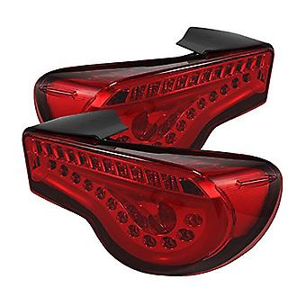 Spyder Auto (ALT-YD-SFRS12-LBLED-RD) Scion FR-S JDM Red Light Bar Style LED Tail Light - Pair