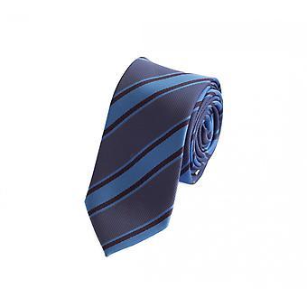 Tie cravate cravate cravate bleu foncé 6cm et MIttelblau Fabio Farini rayé