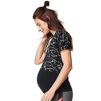 Noppies 66503 C270 kobiet Florien czarny motyw przycięte macierzyńskiego sportowy T-Shirt