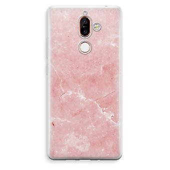 Nokia 7 Plus läpinäkyvä kotelo (pehmeä) - vaaleanpunaista marmoria