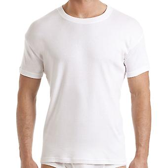 Haigman Mens 100% Cotton T-Shirt Vest Underwear (Pack of 3)