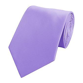 Schlips Krawatte Krawatten Binder 8cm lilla Fabio Farini
