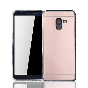Samsung Galaxy A8 2018 Mobile Shell lustro lustro miękki sprawa ochrony okładka różowego złota