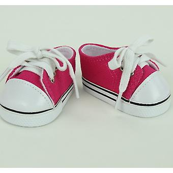 "18"" doll lage Top Sneakers, kleding Hot Pink"