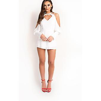 IKRUSH Womens Eden Cold Shoulder Cut Out Playsuit