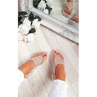 IKRUSH Womens Karley verfraaid sandalen