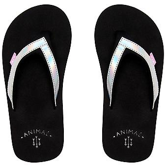Animal Swish Slim Girls Kids Summer Beach Holiday Flip Flop Sandals