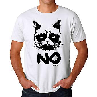 Grumpy Cat Grumpy No Men's White Funny T-shirt