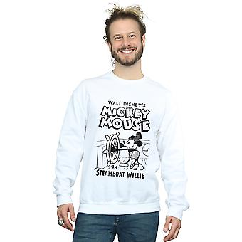 Disney Men's Mickey Mouse Steamboat Willie Sweatshirt