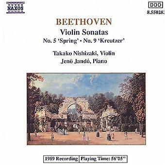 L.V. Beethoven - Beethoven: Violin Sonatas Nos. 5 Spring & 9 Kreutzer [CD] USA import