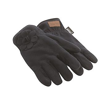 Jack Murphy Mens Hickstead Fleece handskar varm blomma Detailing