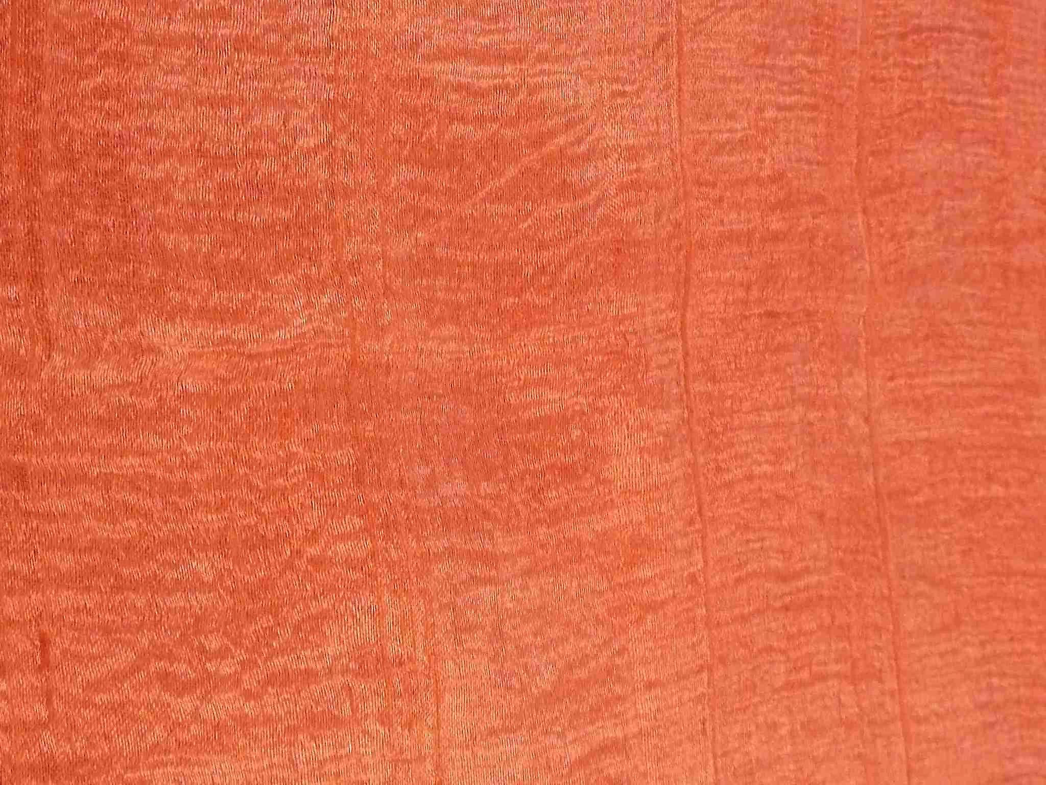 Pure Raw Silk Long Scarf Saigon Lua Van Weave Salmon by Pashmina & Silk