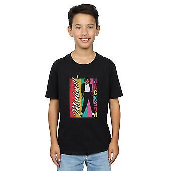 Michael Jackson ragazzi colore t-shirt a righe