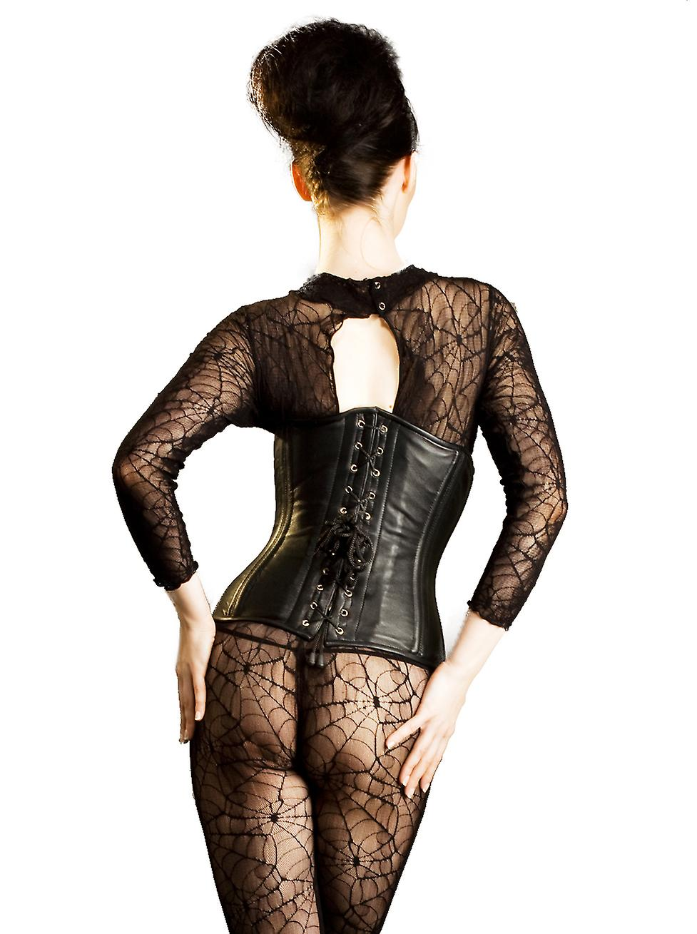 Killer Corsets Women's Sexy Corset in Leather Underbust Back Lacing