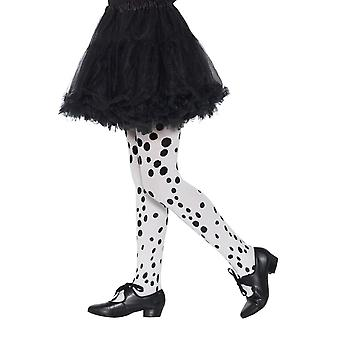 Dalmatian Tights Childs Black & White, Girls/Children's Tights, Age 6-12