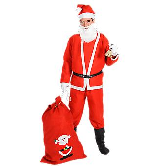Orion Costumes Mens Santa Claus Farther Christmas Red Fancy Dress Costume