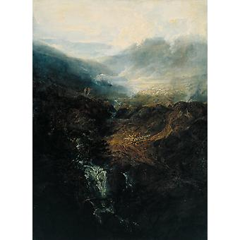 Morning blant Coniston Fells, J.M.W. Turner, 50x40cm