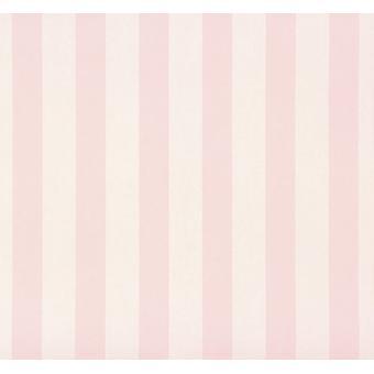 Rosa blanco rayas fondo de pantalla niñas adolescentes habitación niño lavable rayas Rasch