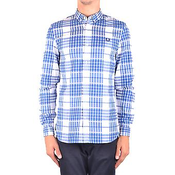 Fred Perry Ezbc094062 Men's Light Blue Cotton Shirt