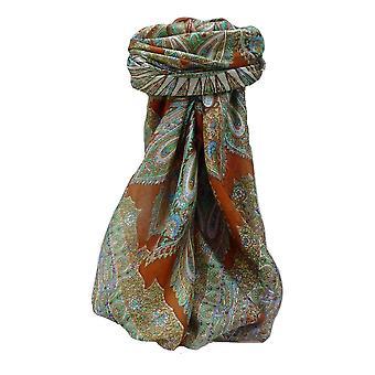 التوت الحرير وشاح مربعة تقليدية فاهي النحاس من الباشمينا & الحرير