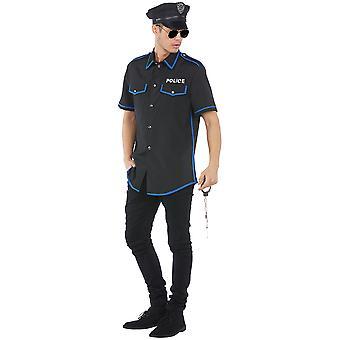 Polizist Herren Kostüm Cop Gesetzeshüter Karneval
