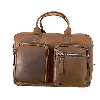 حقيبة لابتوب جلد آشوود للرجال