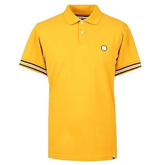 PRETTY GREEN Yellow Raised Tipped Cuff Polo Shirt