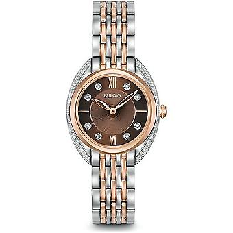 Montre classique en diamant Bulova-Classic 98R230 pour femmes