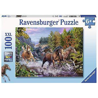 Ravensburger rushing River Horses XXL 100pc puslespil