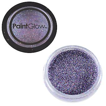 PaintGlow Glitter Shaker Holographic Violet & Fixative Gel