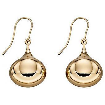 Elementen gouden Teardrop oorbellen-goud