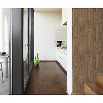 A.S. creatie hout N steen bruin houten paneel effect behang 708823