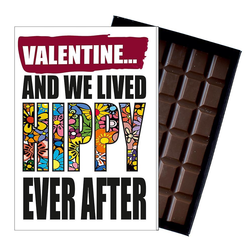 Vegetarian Vegan Valentines Gift Chocolate Greetings Card Present for Hippy IYF193