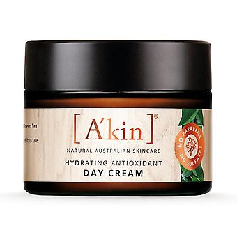 A'kin Hydrating Antioxidant Day Cream Moisturiser Natural Australian Skin Care