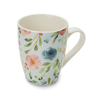Cooksmart Country Floral Blue Mug