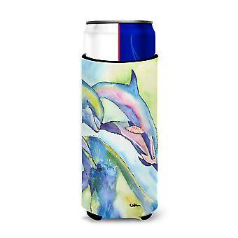 Carolines Treasures 8548-Parent Dolphin Ultra Beverage Insulators para latas delgadas