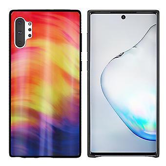 Rückenabdeckung Aurora Glas für Samsung Note 10 Plus lila