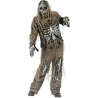Adults Zombie Skeleton Walking Dead Halloween Fancy Dress Costume