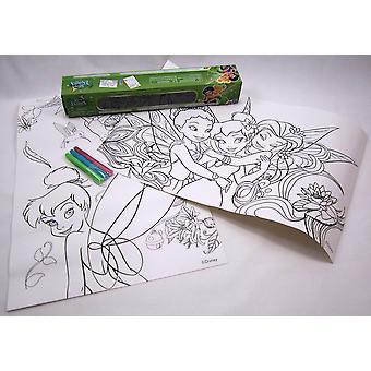 Disney Fairies boxed väritys levyt markkereita
