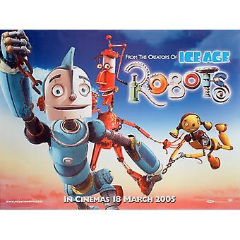Robots (kaksipuolinen) alkuperäinen elokuva juliste