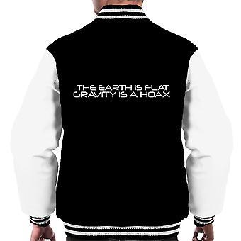De aarde is plat zwaartekracht is een hoax platte aarde mannen ' s Varsity Jacket