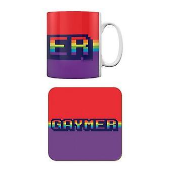 Grindstore Gaymer Tasse et Coaster Set