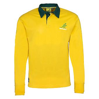 Australia Rugby Wallabies Men's Long Sleeved Rugby Shirt | Yellow | 2019/20 Season