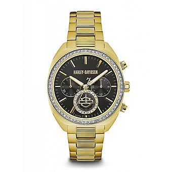 Harley Davidson 77M103 Women's Stone Set Wristwatch