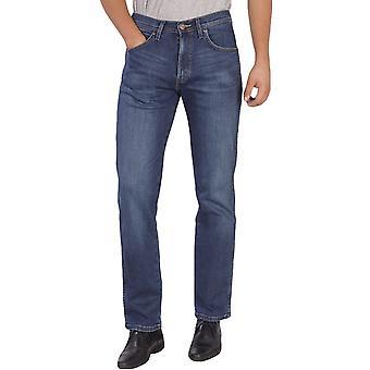 Wrangler Mens Arizona Stretch Straight Leg Jeans Trousers - Blue